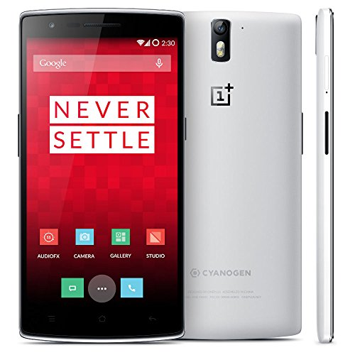 OnePlus One (Qualcomm Core, 5,5 pollici/14 cm, LTPS Display, 3 GB RAM, 16 GB ROM, 13 MP, 4 G, FDD-LTE, OTG, NFC, Miracast) Bianco
