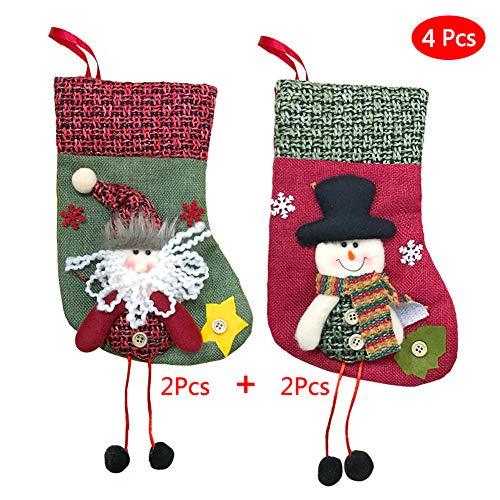 93086920f1b Lhxmas 4 Piezas Navidad Xmas Año Santa Elf Candy Bag Árbol De Navidad  Ornamento Colgante Decoración