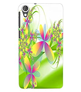 ColourCraft Flower Pattern Back Case Cover for HTC DESIRE 820