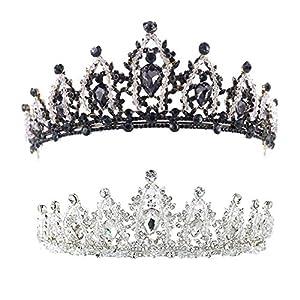 Domybest Damen Mode Krone Kristall Braut Stirnband Hochzeit Strass Hairwear