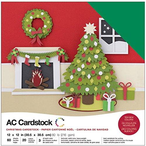 American Crafts Vielzahl tonkartons Pack x 12Zoll 60/Pkg, Mehrfarbig, 30.73X 30,2x 2,28cm -