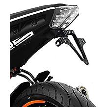 Portamatriculas KTM 125/ 390 Duke 2017 Highsider negro