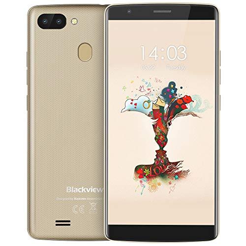 Blackview A20 Pro (2018) Smartphone Libres Dual SIM, 5.5' HD, 4G Android 8.1 Oreo, Quad-Core 2GB RAM 16GB ROM Moviles,...