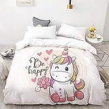 BEDSETAAA 3D Hd Printing Benutzerdefinierte Bettbezug, Kinder Kind Baby Quilt/Decke Fall, Königin Cartoon Bettwäsche, Bettwäsche Cute Stars 155x215cm B93