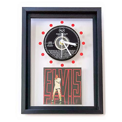 ELVIS PRESLEY - NBC TV Special: GERAHMTE CD-WANDUHR/Exklusives Design -