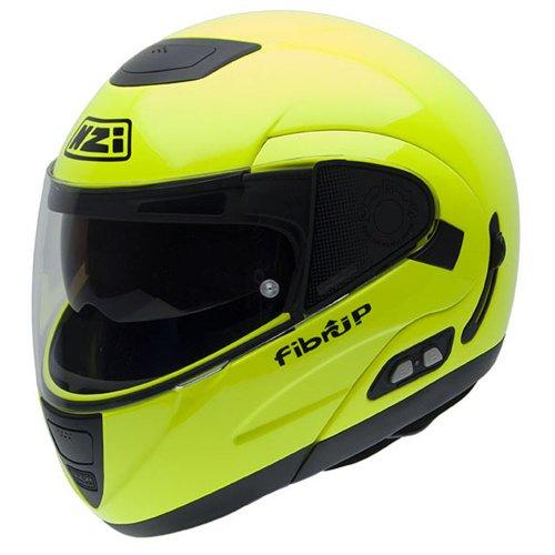 Casco de Moto amarillo Fluorescente de NZI, 57 (M)