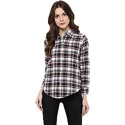 6b7c07766941c Mayra Women s Checkered Regular Fit Shirt (1702T09703 Black Small)