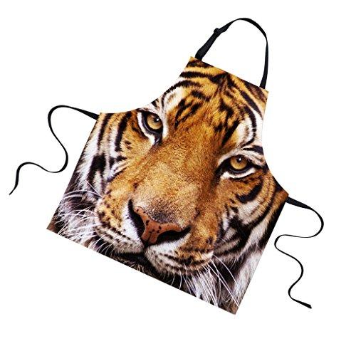 Sharplace Universal Latzschürze Zum Kochen Backen Grillen Schürze, Tier Muster - Tiger