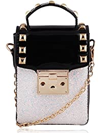 Suaveness Square Black And White Elegant Sling Bag For Women