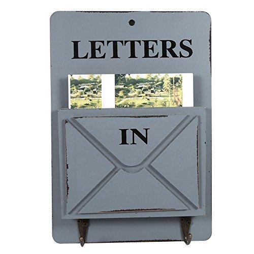 Boîte Aux Lettres Murale Créative Rétro En Bois Pendentif Mural Pour Décoration De Maison Salon ( Couleur : Gris )