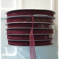 Nastro in organza Color Bordeaux 10mm x 100 mt