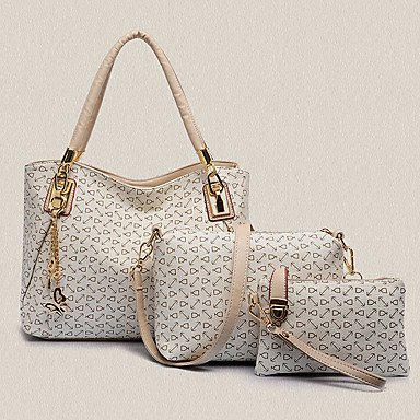 Le donne di vacchetta Esterni / Ufficio & Carriera Set borsa,Bianco White