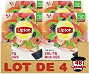 Lipton Thé Noir Fruits Rouges, Capsules Compatibles Nescafé Dolce Gusto Label Rainforest Alliance 48 Capsules