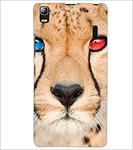 PrintDhaba Leopard D-4392 Back Case Cover for LENOVO A7000 TURBO (Multi-Coloured)