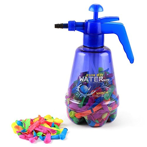 RIANZ-Water-Balloon-Pumping-Station-with-200-Water-Balloons-and-Water-Pump-for-Kids-Water-Gun-Holi-Pressure-Water-Gun-Pichkari-Tank-Summer-Beach-Water-Blaster-Baby-Toys-Shooting-Spray-Color-May-Vary