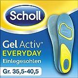 Scholl GelActiv Einlegesohlen Everyday - Verbesserter Komfort durch die doppelte Polsterung - 1 Paar, passend für Schuhgröße 35,5-40,5