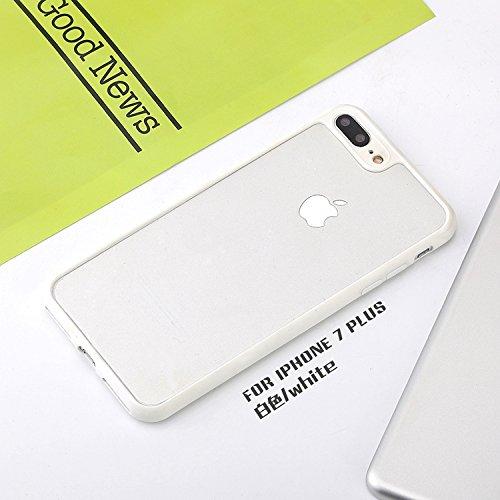 Voguecase Pour Apple iPhone 7 Plus 5,5, [TPU+PC]Coque de protection couche pour Apple iPhone 7 Plus 5,5, Absorption des chocs améliorée, Ajustement Parfait Coque Shell Housse Cover(PC-bleu clair)+ Gra PC-Blanc