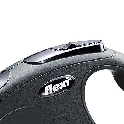 flexi New Classic Retractable Lead Cord, Black, Small, 12kg - 8m (26ft) 2