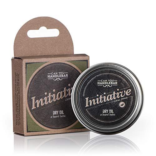 2 Unzen Balsam (CanYouHandlebar Initiative - Citrus Bergamot Lavendel Aroma - Bart Balsam für Männer | Dry Oil Beard Conditioner | 2 Oz Edelstahl Zinn Zitrusgewächs)