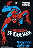 Marvel Comics The Amazing Spiderman - 4 Knitting Patterns for Children's and Adults Jumpers, sizes 24'-44')