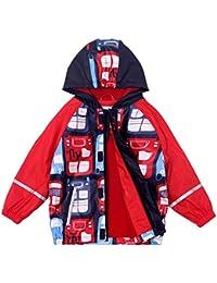 Kinder Jungen Mädchen Wasserdichte Regenjacke Regenmantel Windbreaker Herbst-Frühling Warm Cartoon Jacke Softshelljacke mit Kapuze