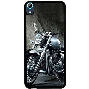 Casotec Motorcycle Design 2D Hard Back Case Cover for HTC Desire 826 - Black