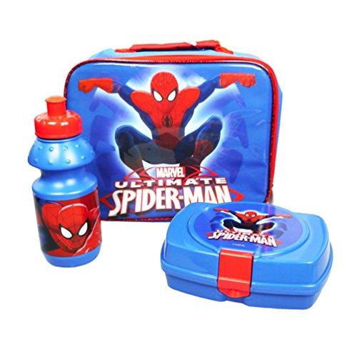 Preisvergleich Produktbild Marvel F104301 - Ultimate Spiderman Lunch Set Bag, Sandwich Box und Flasche, 3 Stück