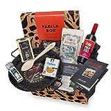 Paella-Box Nr. 2 mit Pfanne, Paella-Reis, Gewürzmischung mit Safran, Öl, Salz & Sangria (8-teilig) - inklusive Zubereitungs-Anleitung