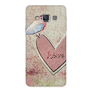 Bird Drawing Heart Back Case Cover for Galaxy A3