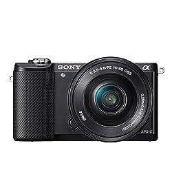 Sony Alpha 5000 Systemkamera (Full HD, 20 Megapixel, Exmor APS-C HD CMOS Sensor, 7,6 cm (3 Zoll) Schwenkdisplay) schwarz inkl. SEL-P1650 Objektiv