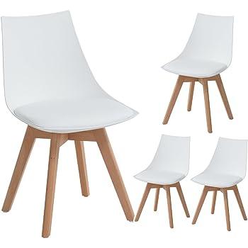 EGGREE 4er Set Holz küchen stühle, Retro gepolsterter