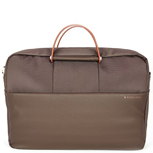 "Borsa 2 manici 2 comparti porta pc 15,6"" Roncato WIRELESS testa moro"