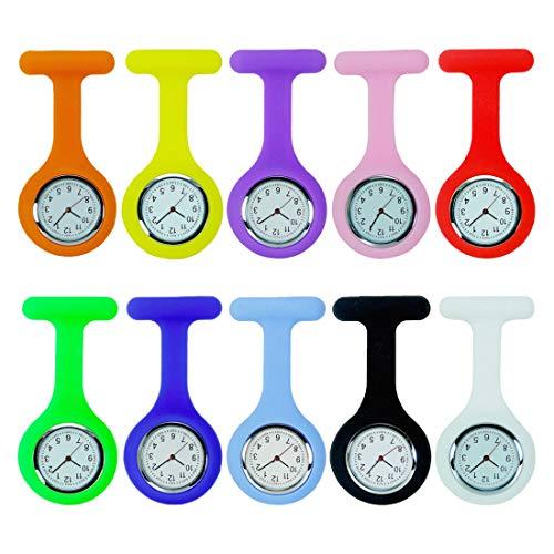 Broche De La Enfermera Reloj, Silicona con Pin/Clip, Diseño De Control De La Infección, Cuidado De La Salud Enfermera Médico Paramédico Médico Broche Fob Reloj