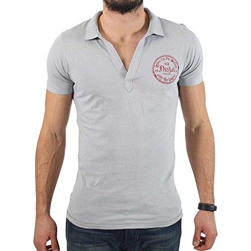 Diesel -  T-shirt - Basic - Uomo grigio XXL