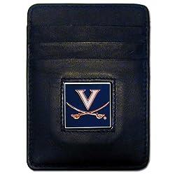 NCAA Virginia Cavaliers Leather Money Clip/Cardholder Wallet