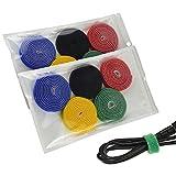 riutilizzabili Fascette [10 pezzi (1 cm x 88 m / pezzi)], Nastro adesivo Design Speciale per Organizzare i Cavi sulle Scrivanie e su Mobili TV