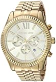 Michael Kors Men's MK8281 Quatrz Stainless Steel Lexington Gold Watch