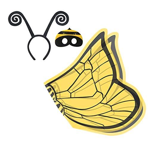 Joyibay Kinder Verkleiden Sich Kostüm Einstellen Niedlich Kostüm Flügel mit Stirnband Maske für - Niedliche Kostüm Mit Masken