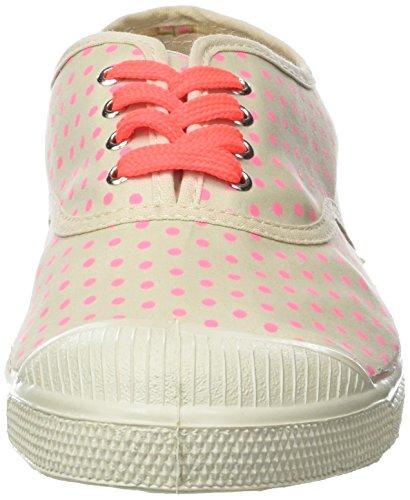 Bensimon Tennis Minipois Lacet, Baskets Basses Femme Rose (Rose)