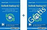 SmartTools Outlook Backup 8.2 + 8.3 Kombipaket - Outlook-Daten sichern oder auf andere Rechner übertragen - perfekt für Neuinstallationen wie den Umstieg auf Windows 10 - für Outlook 2016, 2013, 2010, 2007, 2003, 2002/XP und Office 365