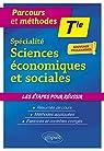 Spécialité Sciences économiques et sociales - Terminale - Nouveaux programmes par Courtois
