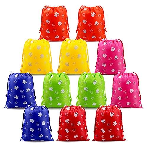 BeeGreen Paw Mitgebsel Kindergeburtstag Party Gastgescenke Taschen 12 Stück, Geburtstagsparty Mitgebseltüten für Jungen Mädchen, Kinder Geburtstagsfeier Partytüten