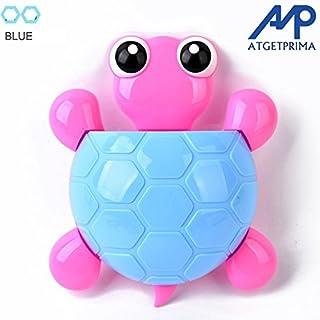 ATGETPRIMA Animal Tortoise Silicone Toothbrush Holder Family Set Wall Bathroom Hanger Suction