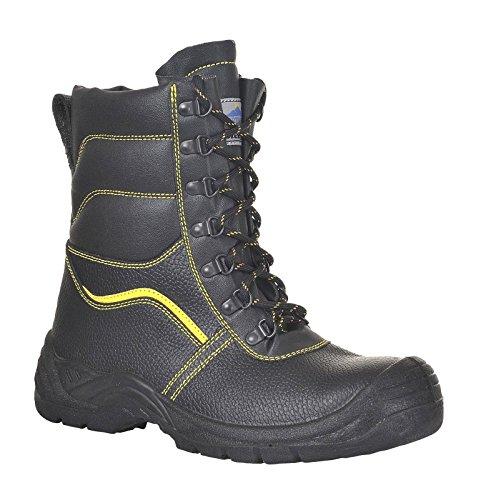 Portwest Fw05 Steelite™ Lavoro Allineato Pelliccia Protector Boot S3 Ci Uomo Nero
