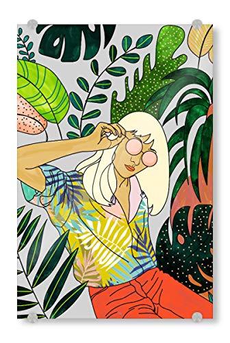 artboxONE Acrylglasbild 60x40 cm Menschen Spring Break Bild hinter Acrylglas - Bild Tropical Woman