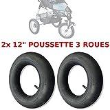 2x Luftschlauch, für Kinderwagen, 3 Räder, 12 Zoll (30,5 cm), Typ High Trek