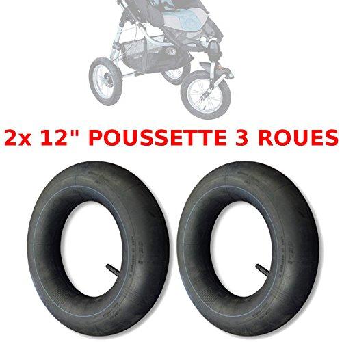2x CHAMBRE A AIR POUSSETTE 3 ROUES 12' TYPE HIGH TREK 1ère GENERATION NEUF