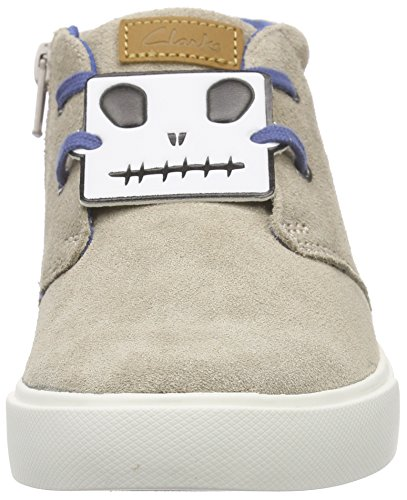 Clarks Club Rise Jnr Jungen Sneakers Beige (Sand Suede)