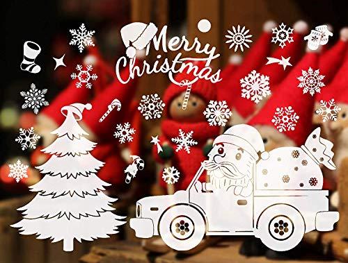 Yoillione Weihnachts Fensterbilder Weihnachten,Wandtattoo Weihnachten Fensteraufkleber Weihnachten Wandtattoo Weiß,Weihnachts Fensterbild Weihnachtsbaum Wandaufkleber