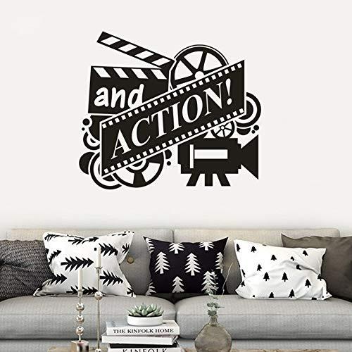 lsweia Film Action Vinyl Wandmalereien Kino Filmrolle Wandkunst Aufkleber Abnehmbare Kino Decor Film Spielen Tapete 66 * 57 cm